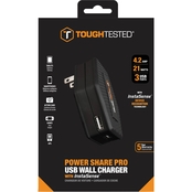 ToughTested Power Share 4.2 Amp 3 USB InstaSense Wall Charger