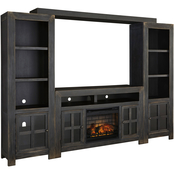 Ashley Gavelston Entertainment Wall with Fireplace Insert