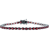 Robert Manse Designs 7.25 in. Rhodium over Sterling Silver Red Sapphire Bracelet