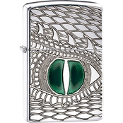 Zippo Carved Green Dragon Eye Lighter