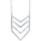 Sterling Silver 1/10 CTW Diamond Chevron 18 in. Necklace