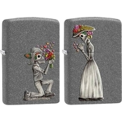 Zippo Death Cannot Stop Love Lighters, Pair