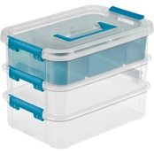 Sterilite Stack and Carry 3 Layer Handle Box