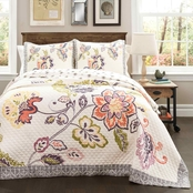 Lush Decor Aster 3 pc. Quilt Set