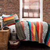 Lush Decor Boho Stripe 3 pc. Quilt Set