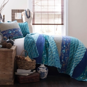 Lush Decor Royal Empire Peacock 3 pc. Quilt Set