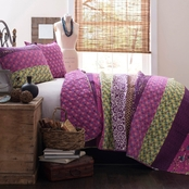Lush Decor Royal Empire Plum 3 pc. Quilt Set