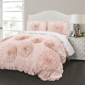 Lush Decor Serena Pink Blush 3 pc. Comforter Set