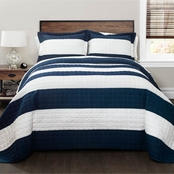 Lush Decor Stripe 3 pc. Quilt Set