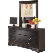 Signature Design by Ashley Huey Vineyard Dresser and Mirror Set