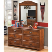 Ashley Barchan Dresser and Mirror Set