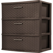 Sterilite Three Drawer Wide Weave Tower