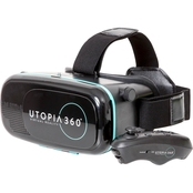 Utopia Virtual Reality 3d Headset with Bluetooth Controller