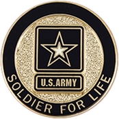 Challenge Coin Army Lapel Button Soldier for Life Pin