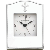 Reed & Barton Abbey Silver Plate Clock by Lenox
