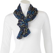 Imperial Alternating Waves Printed Infinity Fashion Scarf