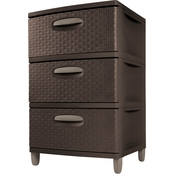 Sterilite Three Drawer Weave Unit