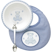 Reed & Barton Gingham Bear 3 Pc. Mealtime Set by Lenox