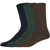 Dockers Men's Lightweight Ribbed Crew Socks 3 pk.