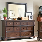 aspenhome Bancroft Collection Dresser and Mirror