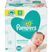 Pampers Wipes Sensitive Fitment 7X 392 Count