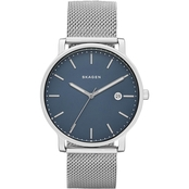 Skagen Men's Hagen Steel Mesh Watch, 40mm