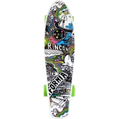 Maui and Sons  Printed Kicktail Cruiser Skateboard