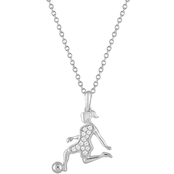 Charming Moments Sterling Silver 1/10 CTW Diamond Fashion Pendant