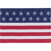 Kay Dee Designs Star Spangled American Flag Placemat