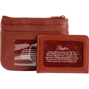 Buxton Hudson Pik Me Up RFID Top Zip Coin Purse