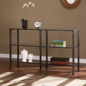 SEI Metal/Glass 3 Tier Console Table
