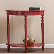 SEI Tyra Red Demilune Table