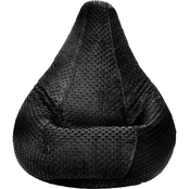 Jordan Manufacturing Adult Minky Dot Bean Bag Chair