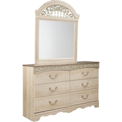 Signature Design by Ashley Catalina Dresser and Mirror Set