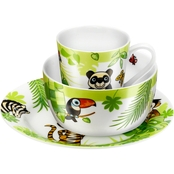 Zwilling J. A. Henckels Twin Kids Jungle 3 pc. Porcelain Dinnerware Set