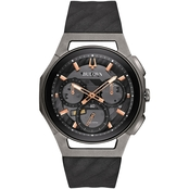 Bulova Men's Curv The World's First Curved Chronograph Movement Watch 98A162