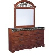 Signature Design by Ashley Fairbrooks Estate Dresser and Mirror Set