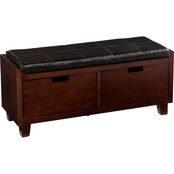 Southern Enterprises Capistrano 2 Drawer Bench
