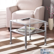SEI Metal/Glass Cocktail Table