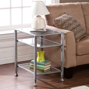 SEI Metal/Glass End Table