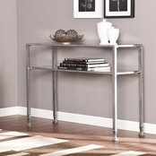 SEI Metal/Glass Console Table