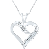 10K White Gold 1/10 CTW Diamond Pendant