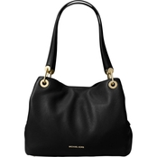 MICHAEL KORS WOMEN'S RAVEN LARGE LEATHER SHOULDER BAG BLACK