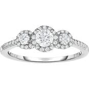 10K White Gold 5/8 CTW Diamond Ring