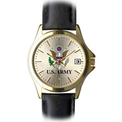 Frontier Women's Army Insignia Quartz Watch with Leather Strap 8205841