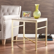 SEI Orinda Faux Stone End Table