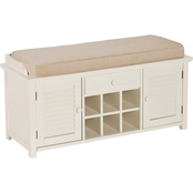 Southern Enterprises Antebellum Storage Bench