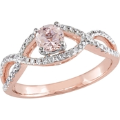 Sofia B. 14K Rose Gold 1/4 CTW Diamond and Morganite Infinity Engagement Ring