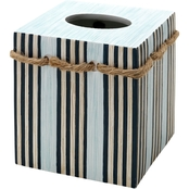Zenna Home India Ink Seaside Serenity Tissue Box Cover