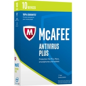 McAfee 2017 AntiVirus Plus for 10 Devices